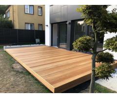 Montaż tarasów drewnianych i kompozytowych