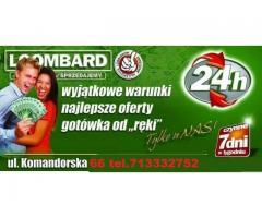 PRZENIEŚ ZASTAW Z INNEGO LOMBARDU DO NAS 50% RABATU NA OPŁATY KOMANDORSKA 66/6G