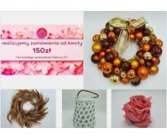 Kompozycja kwiatowa, sztuczne kwiaty, sztuczna Trawa, Gałązki ozdobne sklep