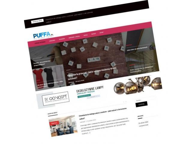 Oferta publikacji artykułów sponsorowanych na portalu Puffa.pl