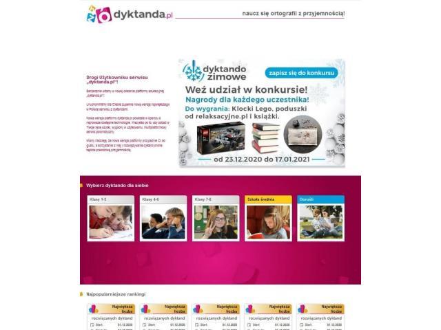 Dyktanda.pl - dyktanda internetowe
