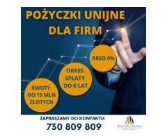 Pożyczki Unijne inwestycyjne i rozwojowe