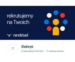 Elektryk - zarób nawet do 5800 zł brutto -> Wrocław Żerniki