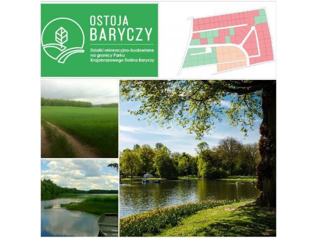 Działka rekreacyjno - budowlana od 500m2 w Dolinie Baryczy (50km od Wrocławia)