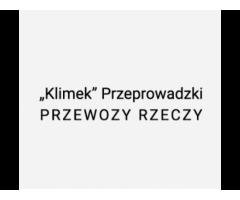 """""""Klimek"""" Rafał Przeprowadzki Przewozy rzeczy"""
