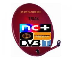 Sobótka Świdnica Bielawa montaż anten satelitarnych tv tel 793734003