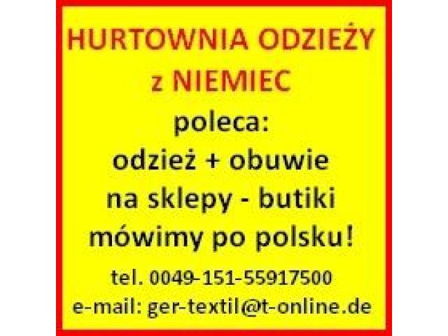 Odzież + Obuwie z Niemiec