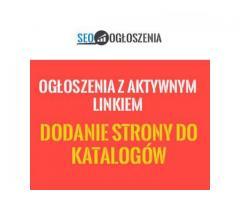 Ręcznie dodawanie OGŁOSZEŃ , pozycjonowanie stron KATALOGI > GRATIS STRONA WWW