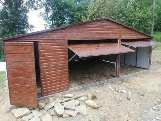 Garaż blaszany 8x6 jak drewniany garaże drewnopodobne blaszaki