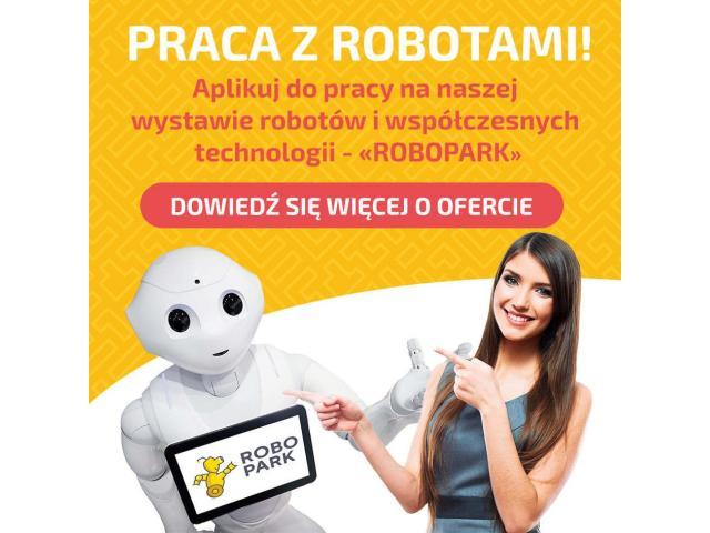 Kasjer/sprzedawca na wystawie robotów