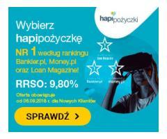 Pożyczka na raty przez Internet RRSO 9,72 / Zacznij spłacać nawet za 2 miesiące