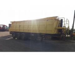 Transport ciągnik siodłowy, naczepa wywrotka, wanna do 26 ton