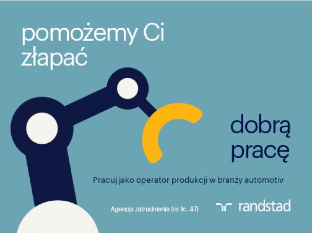 Operator produkcji w branży automotiv - NOWE WYŻSZE STAWKI, zarób do 4200zł !!