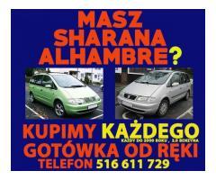 skup VW Sharan, SEAT Alhambra ,stan obojętny