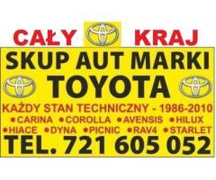 Kupię Stare Toyoty Corolla Carina Avensis Picnic Hiace, Skup Aut Wrocław